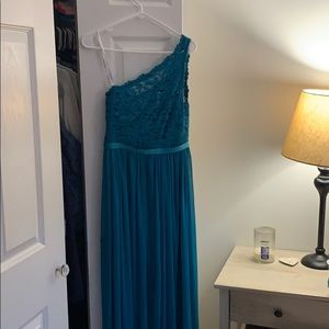 David's Bridal Sz 2 - Teal Bridal Prom Dress